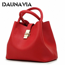 DAUNAVIA- 2017 Vintage Women's Handbags Famous Fashion Brand Candy Shoulder Bags Ladies Totes Simple Trapeze Women Messenger Bag