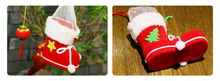 20PC/ Christmas Decoration Gift Creative Christmas products Christmas flocking boots  Pencil and candy gift boots