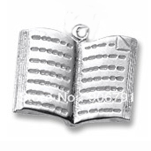Gold & Silver Plated Open Book Pendant DIY Bracelet Charms(China)