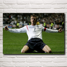 Famous Football Star David Beckham Art Silk Poster Print Sports Pictures Home Decor 12x18 16X24 20x30 24x36 Inches Free Shipping