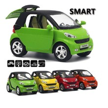 New 1:32 Smart For two Alloy Pull back Car Model Original Car Model Kid Toy Educational Sound Flashing Gifts For Boys