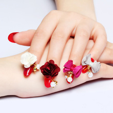 10pcs/lot The latest Japanese nail jewelry detachable magnet base cotton cloth flower/bow pendant nail charms magnet attraction