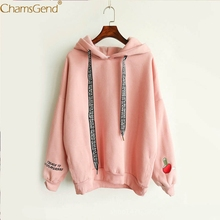 Chamsgend Women Hoodies Girl Winter Letter Print Lace Hoodie Pullover Table Tennie Print Long Sleeve Loose Sweatshirt 71226(China)