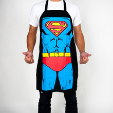 Novelty Sexy Dinner Super Hero Superman The hulk Captain America 3D Printed Apron Sexy Kitchen Cooking Home BBQ Apron Party(China)