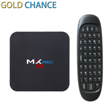 New MX Pro Android 5.1 TV Box Amlogic S905 Quad Core + C120 Wireless Game Keyboard Android Remote Controller Media Player