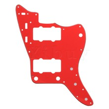Yibuy Red 3Ply Scratchplate PVC Pickguard for HH Style Humbucker Guitar