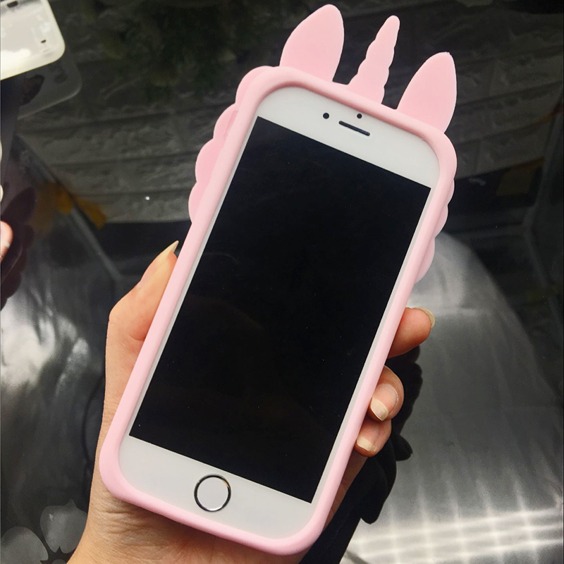 3D Cute Cat Unicorn Dog Rubber Case For iPhone 7 6 6S Plus 5s SE Soft Silicone Cartoon Cover Back For iPhone 8 7 6S 5S X Capa (12)