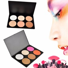 Crazy Professional 6 Color Makeup Cosmetic Blush Blusher Contour Powder Palette(China)