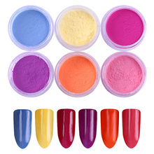 6 Boxes Sunlight Sensitive Color Changing Nail Glitters Powder 1g UV Light Photochromic Pigment Dust for Nail Art Decoration
