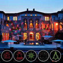 12 Xmas patterns christmas laser projector RF remote red green motion stage light waterproof IP65 outdoor home garden decoration(China)