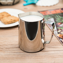 Stainless Steel Coffee Cappuccino Milk Mugs Cup Tea Frothing Jug Garland Cup Latte Jug 300/600ML - Silver(China)