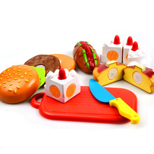 BOHS Toy Cake Slicing Food Birthday Party Toys Baby Kitchen Pretend Play House Artificial Classic Toy for Children Kids(China)