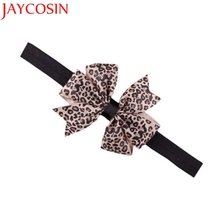 JAYCOSIN New Fashion Lovely Sweet Children's Elastic Force Hair Band Princess Baby Girl Round Dot Bowknot Leopard Hairband