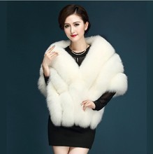 2017 Luxury Winter Plus Size Warm Faux Fur White Black Wool Bolero Wedding Wrap Shawl Bridal Jacket Coat Accessories