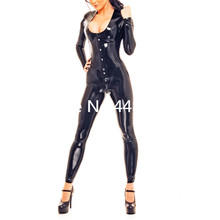 Buy Black Latex Fashion Corsetly U-neck Catsuit Latex Rubber Bodysuit Girls Outfit lace teddy lingerie bodysuit
