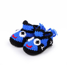 Cartoon Animation Infant Boy Shoes Handmade Crochet Baby Booties Newborn Shoes 10 cm