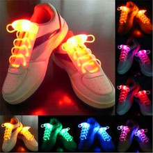 2017 Led Wedding Dress Led Para Fiestas 25pairs/lot For Shoelace Flash Light Up Waterproof Glow Stick Shoestring 3 Modes Party