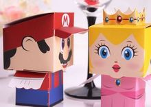 Free shipping,Super Mario Bros. wedding candy box ,novelty gift box for children
