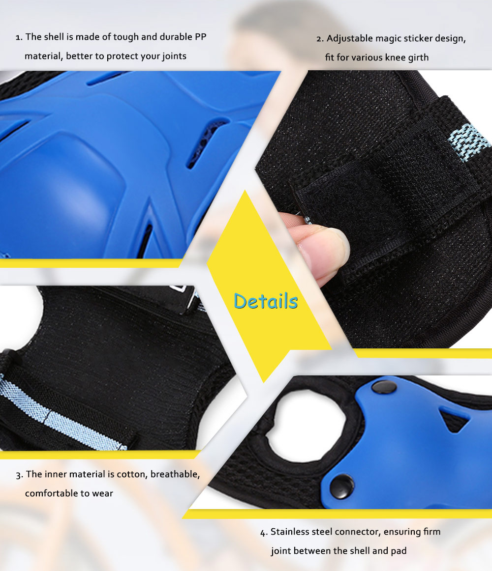 FEIYU Kids Multi Sports Protective Gear Set Knee Elbow Pads Wrist Guards