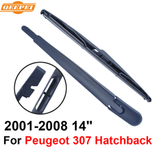 QEEPEI Rear Windscreen Wiper and Arm For Peugeot 307 2001-2008 14'' 3/5 door Hatchback High Quality Iso9000 Natural Rubber