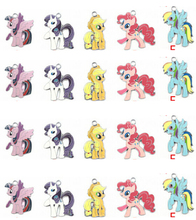 new mixed cartoon my little pony 5color Enamel Metal Charm Pendants DIY Jewelry Making Mobile Phone Accessories z-003
