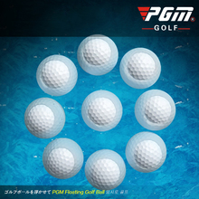 PGM Golf Balls 10PCS Floating 44G Top Quality Synthetic Rubber Two Piece Ball Auea Golf Distance Balls Accessories Free Shipping(China)