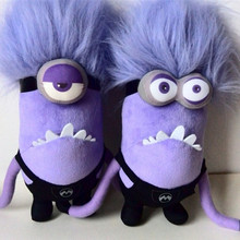 Kawaii Plush Doll 30cm Mini Minions Plush Toys 100% PP Cotton New Year presents Birthday Christmas Gift(China)