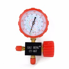 1pc/2pcs Air Conditioning Manifold Gauge High/Low Pressure R134a R404a R22 R410a Refrigerant Manometer With Valve Mayitr(China)