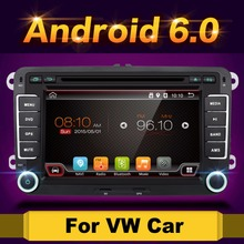 "Android 6.0 7"" 2din Car DVD for VW POLO GOLF 5 6 POLO PASSAT B6 CC JETTA TIGUAN TOURAN EOS SHARAN SCIROCCO CADDY with GPS Navi(China)"