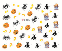 100pcs/lot free shipping E057-067 3D Halloween nail sticker