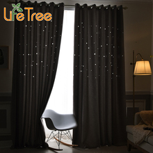 Modern Blackout Curtains For Bedroom Solid Window Drapes Tulle Curtains Custom Made Free Shipping(China)