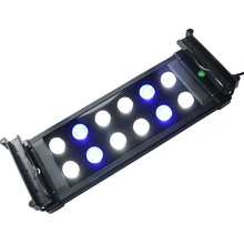 "10W 12""-20"" Marine Aquarium Reef LED Lighting Coral Fish Tank Aquatic Plants Extensible LED Light Fixtures Blue White LED Lamp"