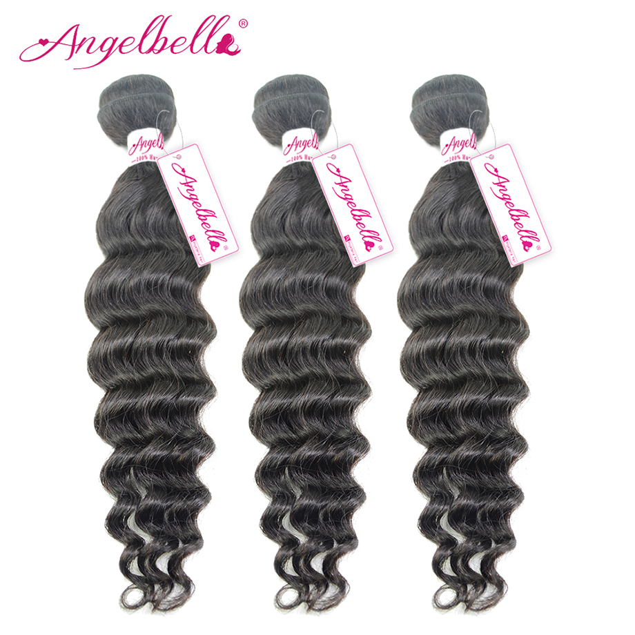 Angelbella Malaysian Remy hair Big Deep Wave 3 Pieces A Lot Malaysian Hair Weave Charming Gifts for African &amp; American Women<br><br>Aliexpress