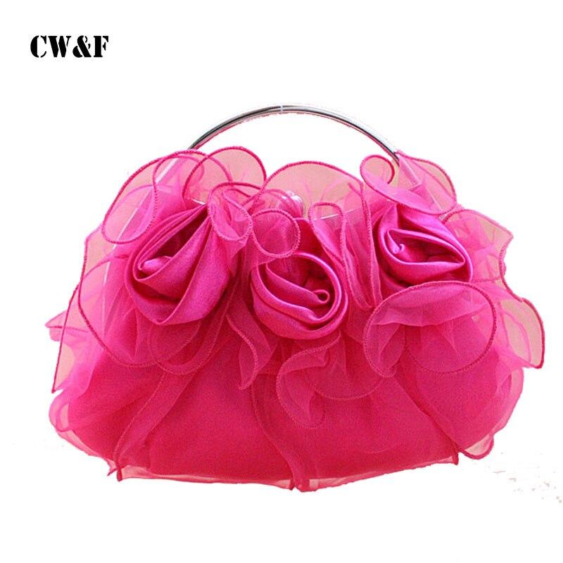 2018 spring and summer flowers Ms. Clutch handbag shoulder Messenger packet<br>