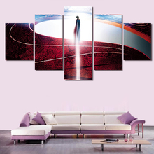 2016 New 5 Panel Red Painting Pictures Cuadros Decoracion Canvas Art Wall Picture Home Decor For Living Room Prints Unframed