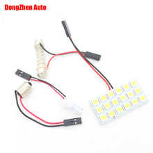 1X Car Moto 18 LED 5050 Panel W5W T10 BA9S T11 Festoon Dome Interior Bulb Light Car LED T4W H6W W6W C5W C10W Reading Light Xenon