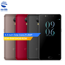 Original Elephone P8 4G Smartphone 5.5inch Android 7.0 Helio P25 Octa Core Mobile Phone 6GB RAM 64GB ROM 21.0MP Camera Cellphone