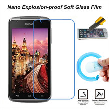 Hight Quality Nano Explosion-proof Soft Glass Protective Film Screen Protector for Huawei Ascend G500 Pro U8836D Film(China)