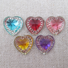 25Y6858 Free Shipping 14*14mm Resin Rhinestone DIY Nail Art Garment Accessories Decoration(China)
