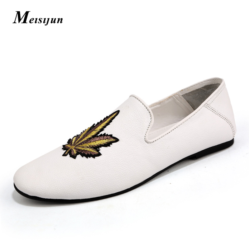 MEISIJUN City classic casual men shoes Breathable comfortable driving shoes <br>