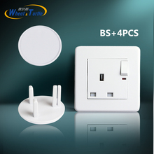 4Pcs/Lot Baby Safety Prevent Electric Shock British Standard UK BS Power Outlet Protection Against Cover Socket Locks Children