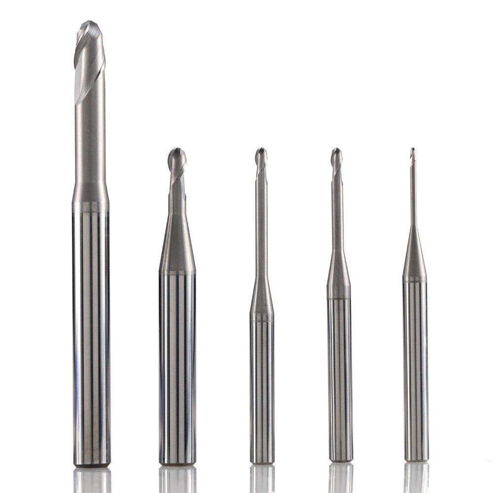 Schaftfräser CNC Fräser Flache Nase 2 Flöte Fräsen Cutter Werkzeug VHM