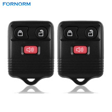2pcs 3 Buttons Keyless Entry Remote Control Car Key Fob Clicker Transmitter Replacement For Ford 2001-2011
