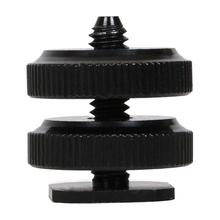 "Buy ALLOET Double Layer 1/4"" Thread Screw Tripod Mount Hot Shoe Camera Flash Fill Light Holder Mount Adapter Canon Sony Yongnuo for $1.11 in AliExpress store"