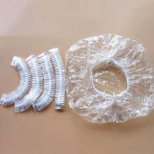 100Pcs One-off Disposable Hotel Shower Bathing Clear Hair Elastic Caps Hats Shower Caps(China)
