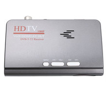 kebidumei Digital Terrestrial 1080P DVB-T/T2 TV Box VGA AV CVBS Tuner Receiver With Remote Control HD 1080P VGA DVB-T2 TV Box