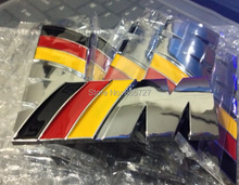 100pcs/lot  ABS M POWER Germany Flag  M-Badge car 3M STICKER BADGE Emblem Logo POWER SPORT HOOD BOOT Car Styling Free shipping