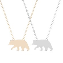 QIAMNI New Style Hot Fashion 30pcs/lot Wholesale Cute Polar Bear Necklace Pendant Jewelry for Women and Girls