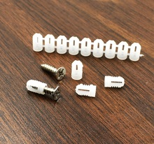 600PCS/Lot Nylon expansion nut anchor tube plug For Cabinet Hinge