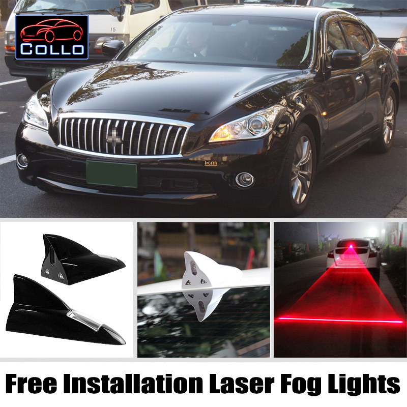 Free Installation For Mitsubishi Proudia / Solar Energy Shark Fin Laser Fog Lamp / Car Decoration Multiple Mode Warning Lights<br><br>Aliexpress